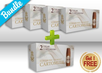 E-Cigar Cartomizers Bundle - Buy 4 get 1 FREE